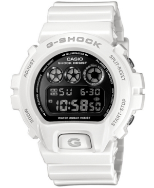 G-Shock Watch, Men's Mirror Metallic White Resin Strap DW6900NB-7