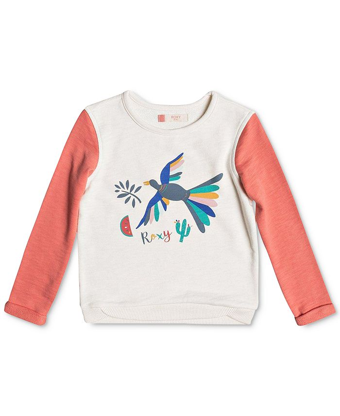 Roxy - Gonna Win Birdy Bird Sweatshirt, Little Girls (2-6X)