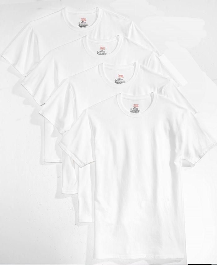 Hanes - Men's 4-Pk. Platinum Stretch T-Shirts