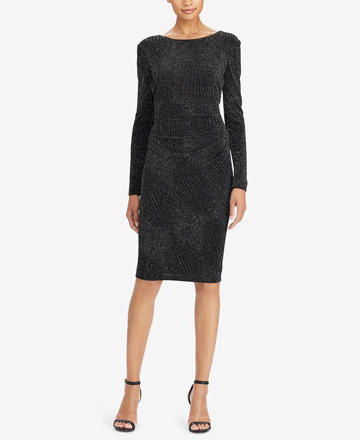 Lauren Ralph Lauren - Petite Metallic Jacquard Dress