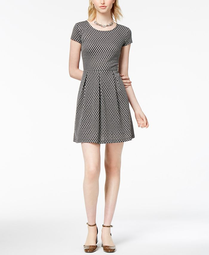 Maison Jules - Textured Pleated Dress
