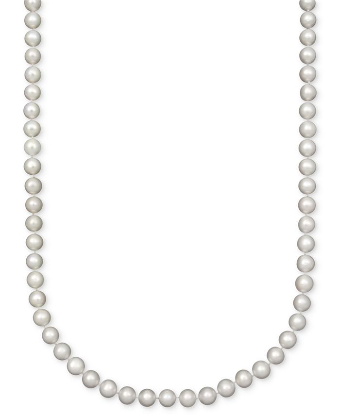 "Belle de Mer - Pearl Necklace, 18"" 14k Gold A Cultured Freshwater Pearl Strand (7-1/2-8mm)"