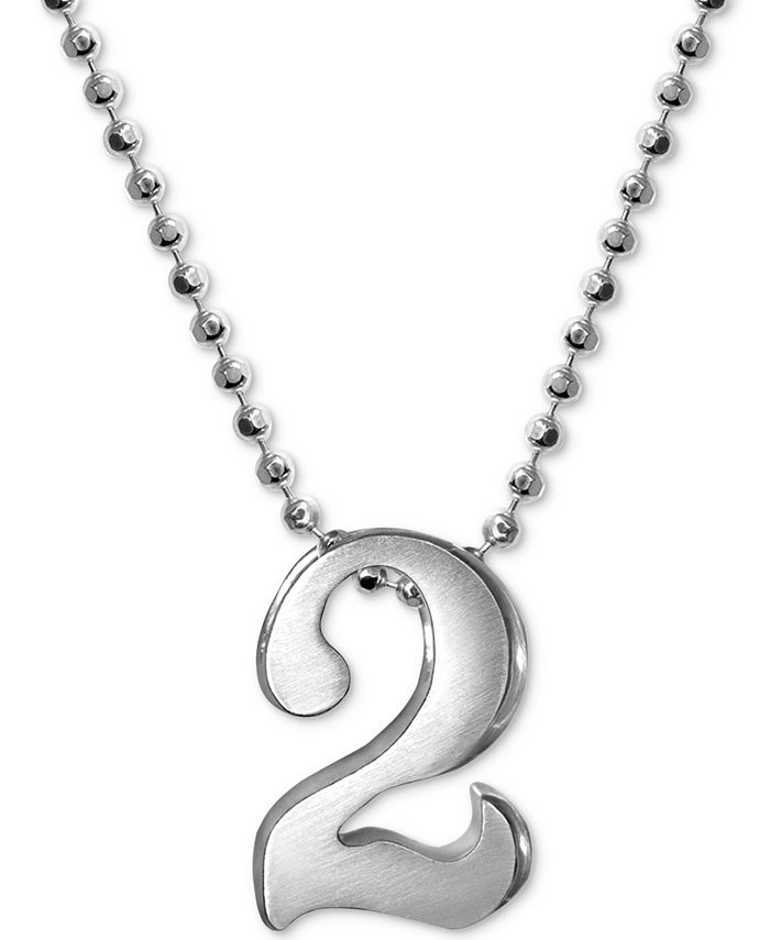 Alex Woo - Number Pendant Necklace in Sterling Silver