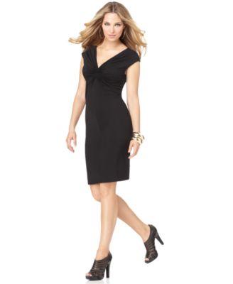 Black Solid Star Sleeveless V Neck Little Black Dress XS BHFO