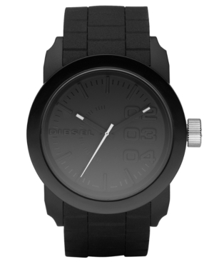 Diesel Watch, Black Silicone Strap 44mm DZ1437 $ 100.00