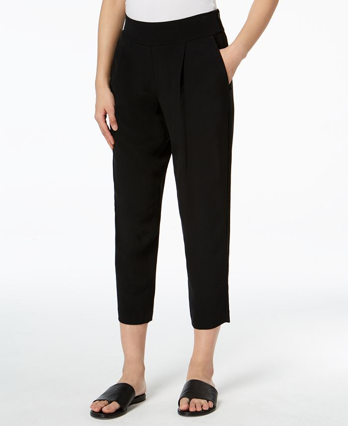 Eileen Fisher - Pleated-Front Cropped Pants