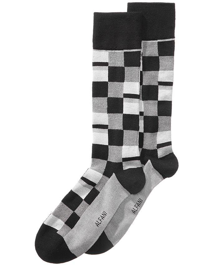 Alfani - Men's Mosaic-Print Dress Socks