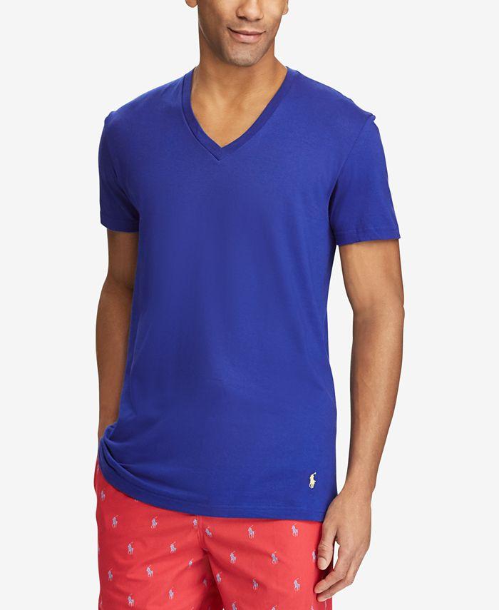 Polo Ralph Lauren Men's Classic Fit V-Neck T-Shirts, 3-Pack ...