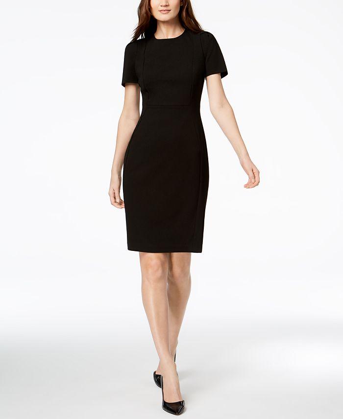 Calvin Klein - Petite Short-Sleeve Sheath Dress
