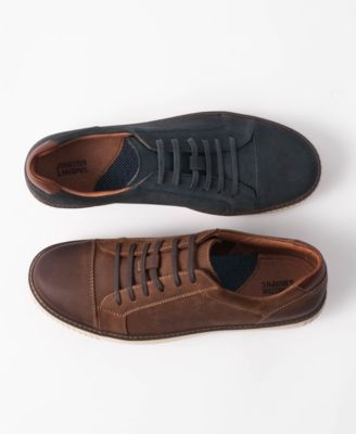 Walden Cap-Toe Suede Lace-Up Sneakers