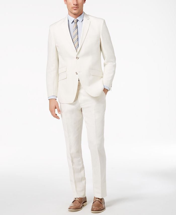 Perry Ellis - Men's Slim-Fit Stretch White Suit