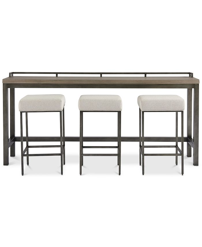 Furniture - Channing 4-Pc. Table Set (Console Table & 3 Stools)