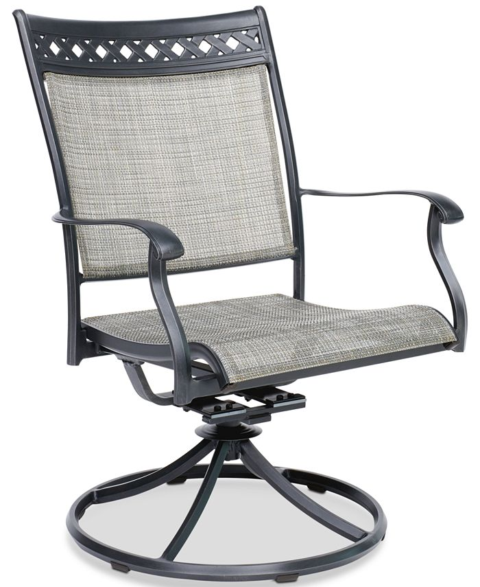 Furniture - Vintage II Outdoor Sling Swivel Chair, Created for Macy's