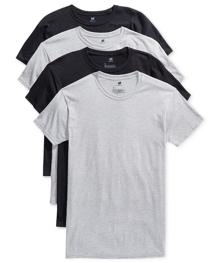 Hanes - Men's 4-Pk. Platinum ComfortFit Crew Neck T-Shirts