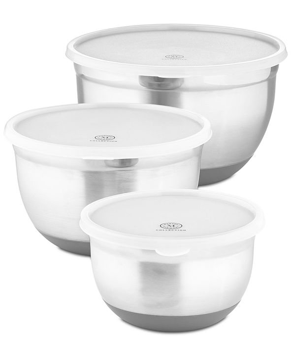 Martha Stewart Collection 6-Pc. Non-Skid Bowls & Lids Set, Created for Macy's