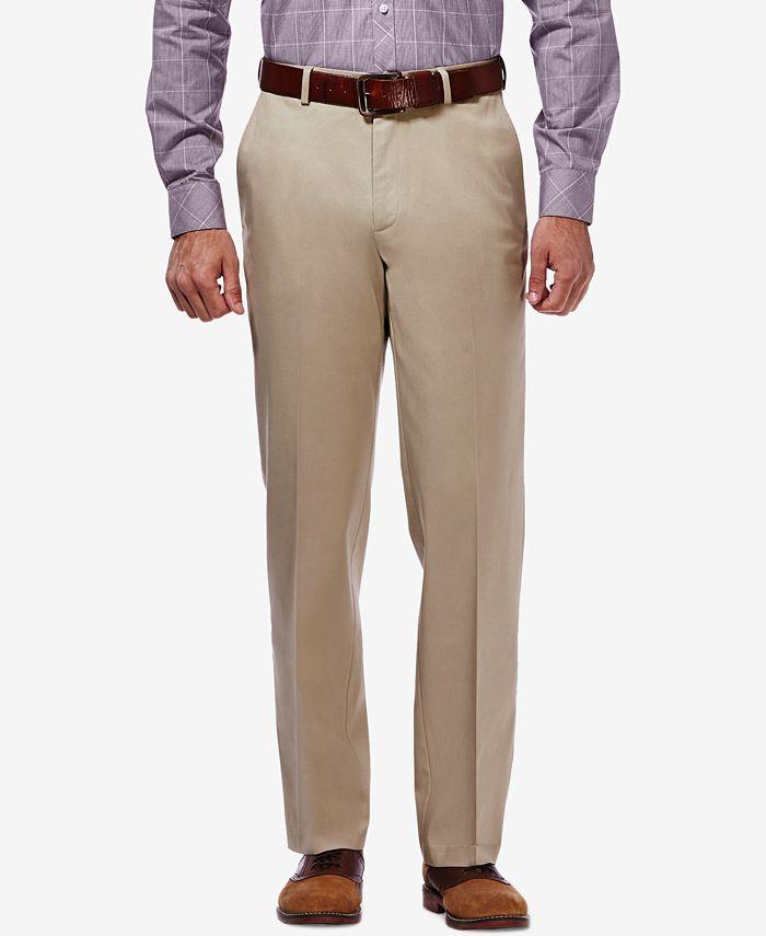 Haggar - Men's Stretch-Waist Classic-Fit Dress Pants