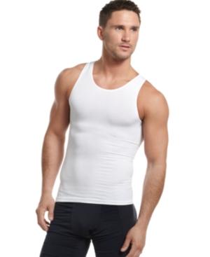 One Flat Jack Mens Body Shaper, Seamless Sleeveless Undershirt