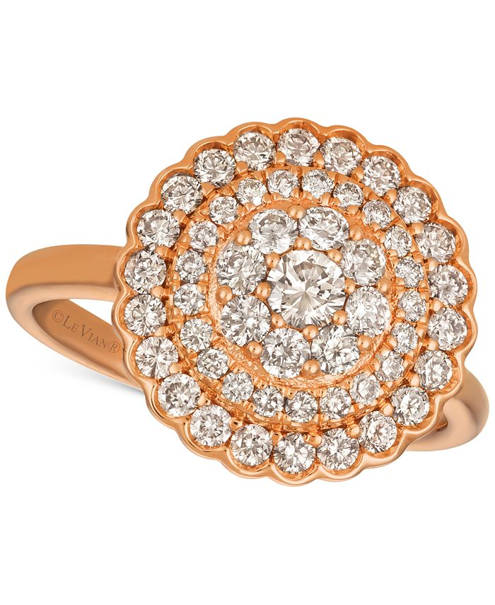 Le Vian - Diamond Halo Cluster Ring (1 ct. t.w.) in 14k Rose Gold