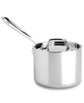 All-Clad Stainless Steel Covered Saucepan, 2 Qt.