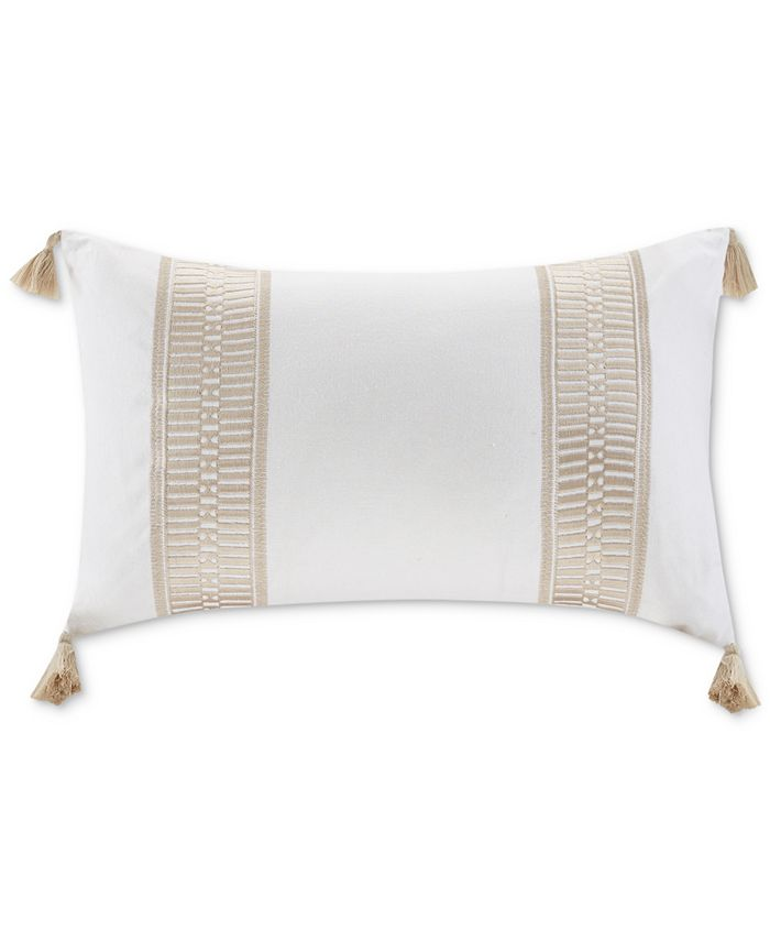 """Harbor House - Anslee 12"""" x 20"""" Embroidered Oblong Decorative Pillow"""