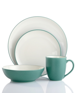 Noritake Dinnerware, Colorwave Turquoise Coupe 4 Piece Place Setting