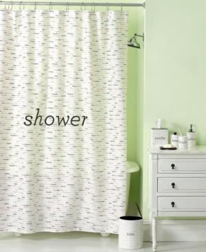 Martha Stewart Collection Bath Accessories, Words Shower Curtain