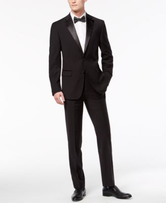 Men's Slim-Fit Infinite Stretch Black Tuxedo Suit Pants