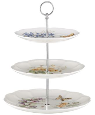Lenox Dinnerware, Butterfly Meadow 3 Tiered Server
