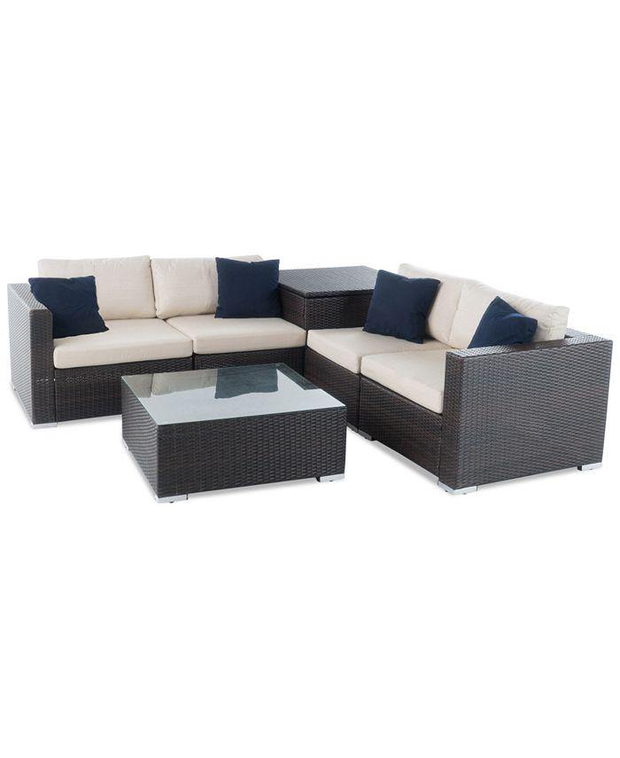 Furniture - Cambridge Outdoor 6-Pc. Sofa Set, Quick Ship