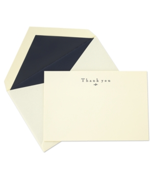 Crane Stationery, Navy Hand Engraved Thank You Notes