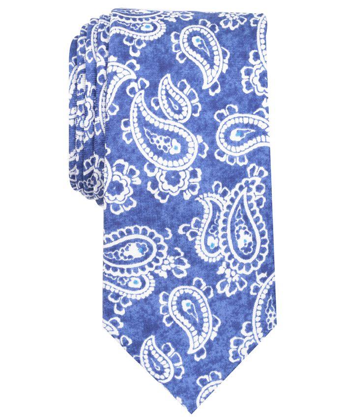 Tallia - Men's Eleanor Paisley Slim Silk Tie