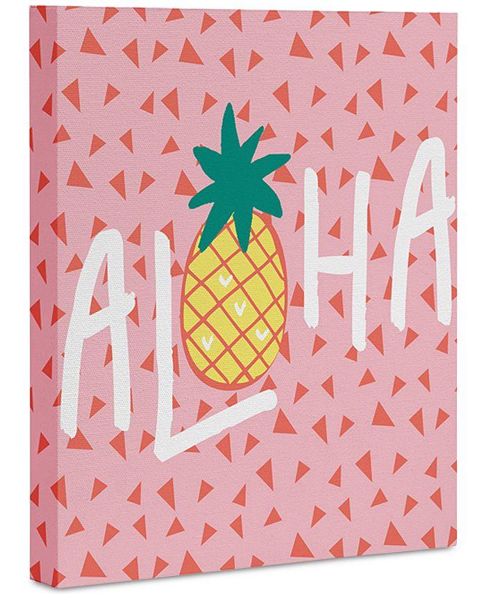 """Deny Designs - Zoe Wodarz Aloha Darling Art Canvas 24 x 30"""""""