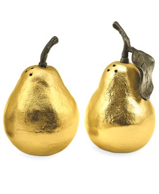 Michael Aram Pear Salt and Pepper Shakers