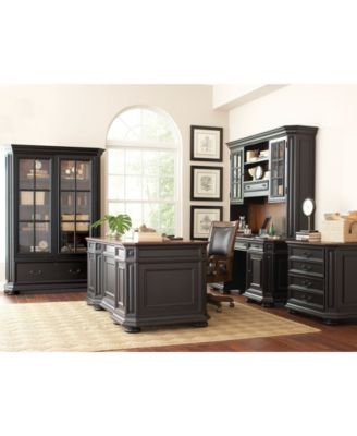 Beekman Home Office, 2-Pc Furniture Set (Credenza Hutch & Computer Credenza)