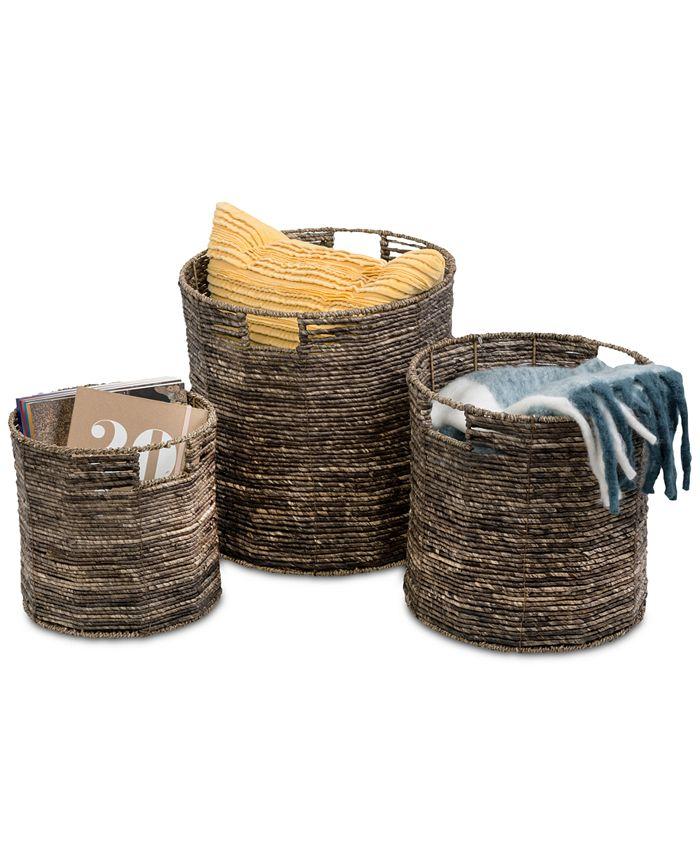 Honey Can Do - Coastal Collection 3-Pc. Nesting Storage Bin Set
