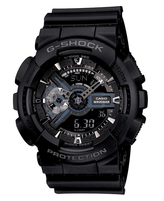 G-Shock - Men's Analog Digital Black Resin Strap Watch GA110-1B