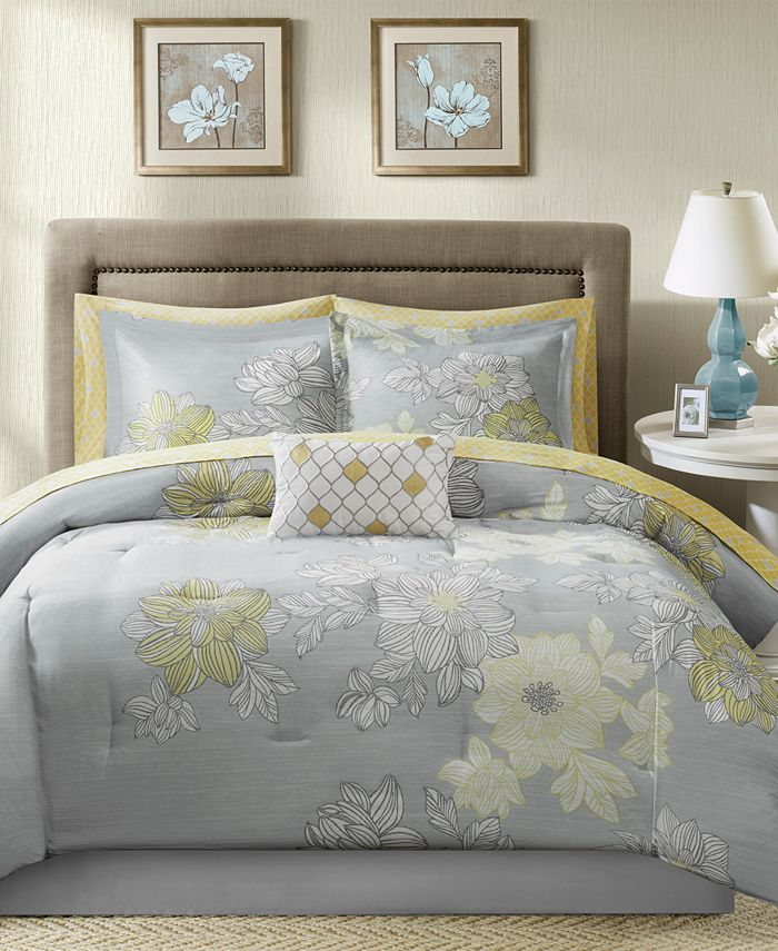 Madison Park - Essentials Avalon 9-Pc. Full Comforter Set