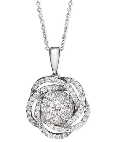 Wrapped in Love™ Diamond Knot Pendant Necklace in 14k