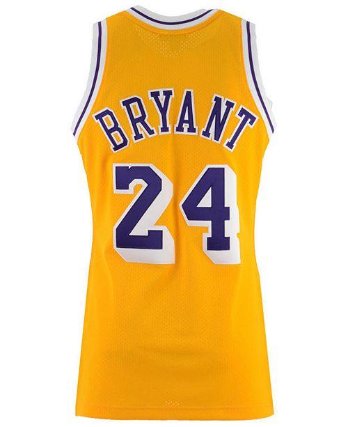 Mitchell Ness Men S Kobe Bryant Los Angeles Lakers Authentic Jersey Reviews Sports Fan Shop By Lids Men Macy S