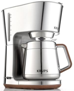 Krups KT600 Coffee Machine, Silver Art 10 Cup
