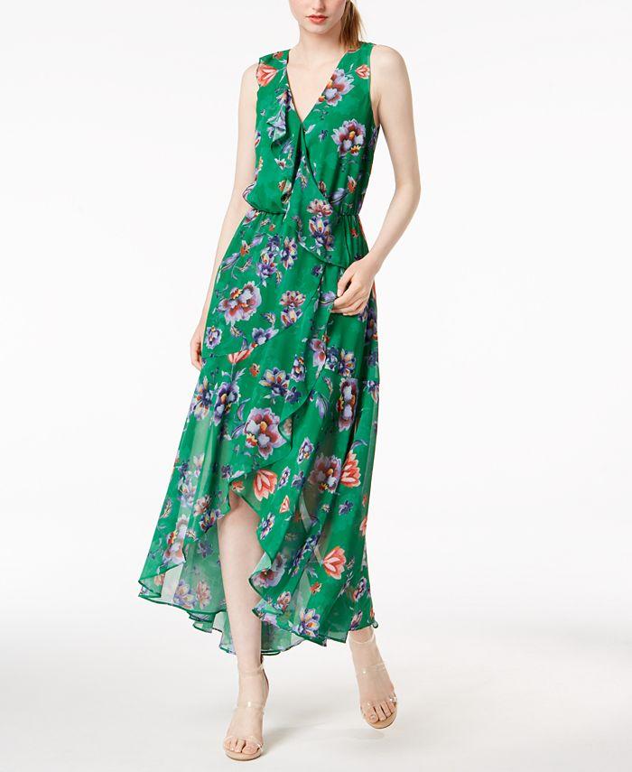 Bar III - Floral-Print Ruffled Maxi Dress