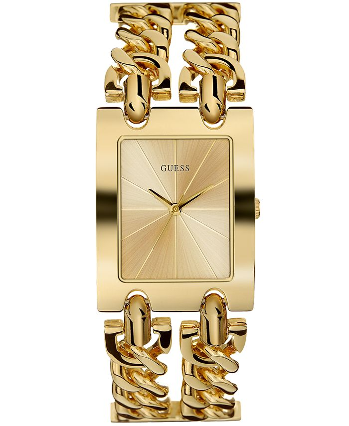 GUESS - Women's Gold-Tone Stainless Steel Chain Bracelet Watch 36mm