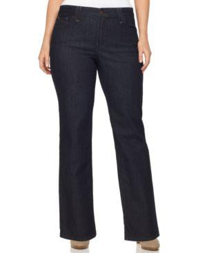 Nydj Plus Size Hayden Bootcut Jeans, Dark Wash