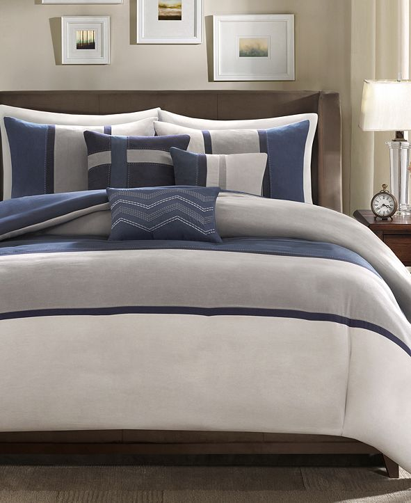 Madison Park Palisades 6-Pc. Full/Queen Duvet Cover Set