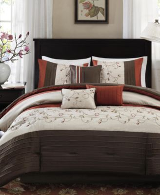Serene 7-Pc. Queen Comforter Set