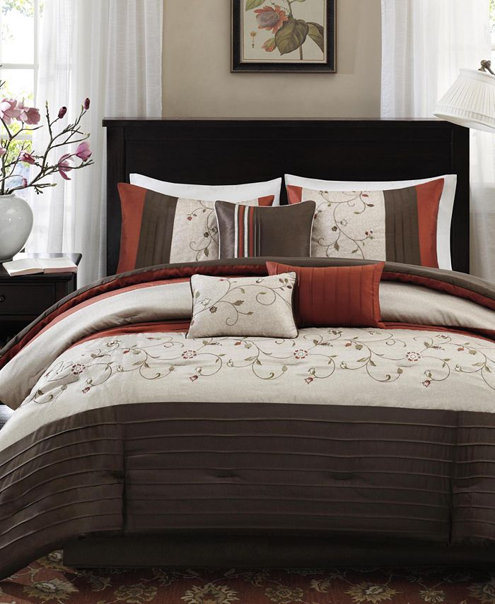Madison Park - Serene 7-Pc. Queen Comforter Set