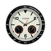 Deals on Citizen Outdoor Black & Silver-Tone Wall Clock