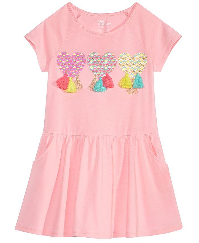Epic Threads - Tassel-Trim Drop-Waist Dress, Toddler Girls