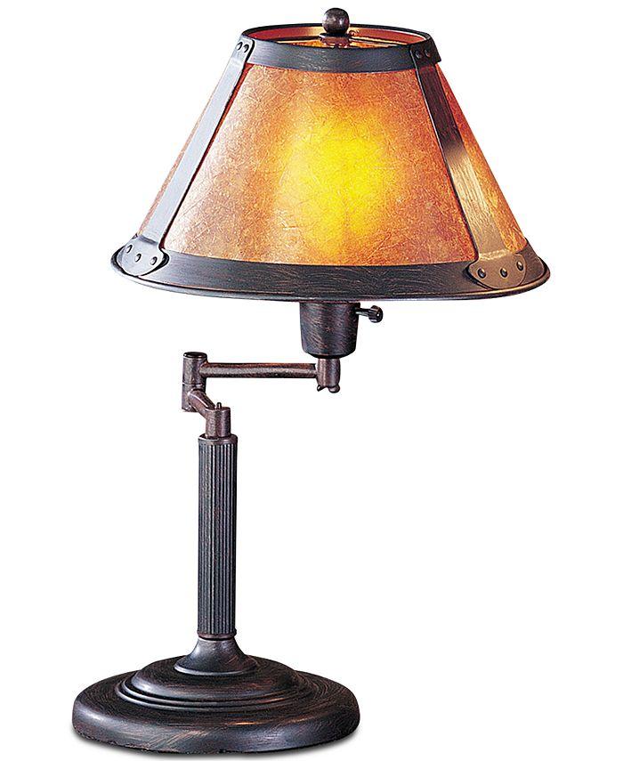 Cal Lighting - 60W Swing Arm Mica Desk Lamp