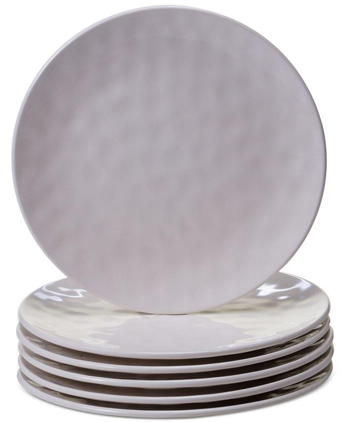 Certified International - 6-Pc. Cream Melamine Salad Plate Set